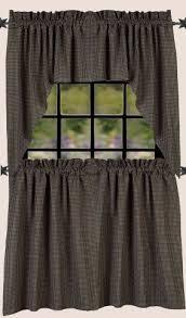 Black Gingham Curtains Newbury Black Gingham Swag Curtains