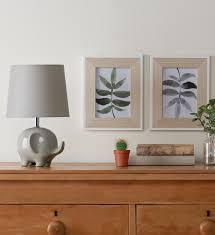 ellie elephant table lamp grey