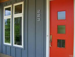 Mid Century Modern Window Trim by House Numbers Add Curb Appeal Afp Interiors