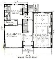 Stair Floor Plan Modifying A Sears Kit Home Floor Plan