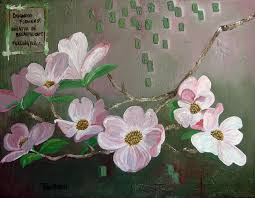 dogwood flowers dogwood flowers japanese style painting with haiku