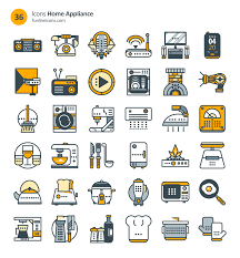 72 home appliance and real estate icons freebie icons real