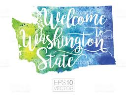 Washington State Detailed Map Stock by Welcome To Washington State Vector Watercolor Map Stock Vector Art