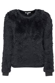 fur sweater milly knitted fur sweater grey 365ist
