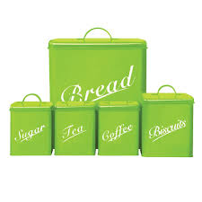 Kitchen Storage Canisters Sets Food Grade Kitchen Square Metal Storage Canisters Set Bread Box