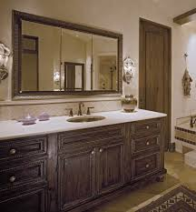 admirable designs with custom mirrors for bathrooms large amusing decorating ideas using rectangular brown wooden vanity cabinets and white quartz countertops also with oval