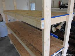Wooden Shelves Making by How To Build A Shelf For The Garage