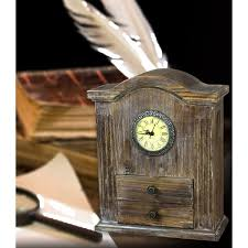 Wood Desk Clock Vintage Wood Desk Wayfair