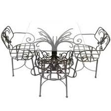Wrought Iron Patio Bistro Set French Modern Red Wrought Iron Patio Set With Honeycomb Bistro