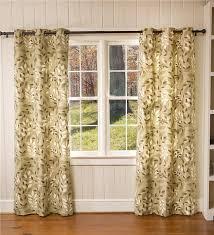 Double Wide Grommet Curtain Panels Leaves Grommet Top Double Width Curtains 84