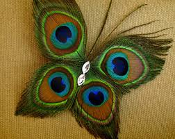 feather butterflies etsy