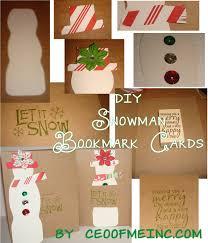 snowman bookmark diy christmas card craft tutorial
