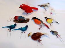 feathered bird ornaments ebay