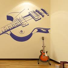 electric guitar print musical notes amp instruments wall electric guitar print musical notes instruments wall stickers music art decals