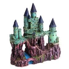 artificial europe castle ornament figurines for aquarium tank fish