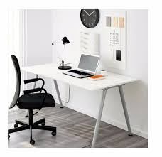 urgent ikea galant thyge desk white and silver 60 x 120 in