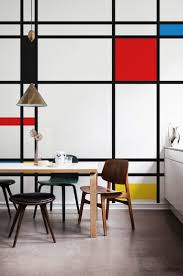 95 best wall decor geometry images on pinterest wall decor wall mural piet mondrian composition ii in red blue and yellow