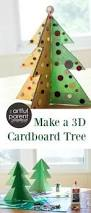a christmas tree craft with cardboard and buttons button