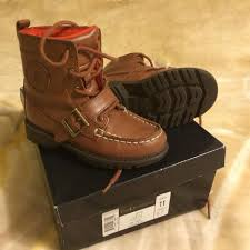 ralph womens boots size 11 best polo ralph boot leather brown color kid boy size