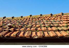 Ceramic Tile Roof Green Ceramic Tiled Roof Of An Ancient Building In Bejing China