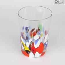 bicchieri in vetro set di 6 bicchieri in vetro di murano acqua e vino
