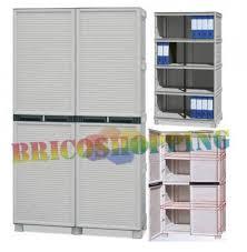 armadietti in pvc armadio resina tuttopiani il pi禮 forte pvc esterno 100x172x39 4