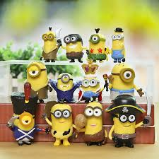 12pcs despicable me 2 minion in figures day