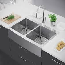 stainless farmhouse kitchen sink exclusive heritage 33 x 22 double bowl 50 50 stainless steel kitchen