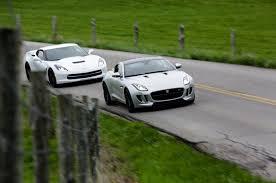2015 jaguar f type and 2014 chevrolet corvette head to kentucky