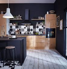 deco cuisine bois cuisine bois et noir meilleur idées de conception de maison