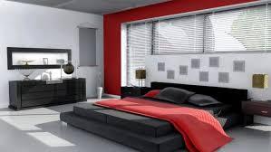 vermilion red wooden japanese design bedframe with bedside table