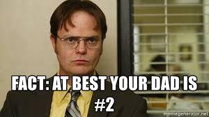 Dwight Meme Generator - fact at best your dad is 2 dwight schrute 113 meme generator