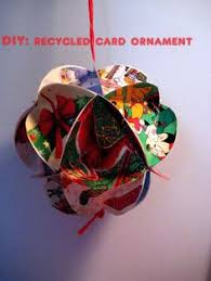 recycle cards to make ornaments card crafting pinterest