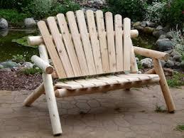 Log Outdoor Furniture by Log Cedar Garden Bench Made In America