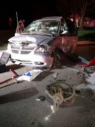 one person injured in saturday night two car crash progress news