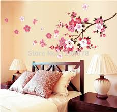 miraculous pink flowers butterfly bathroom decor removable large