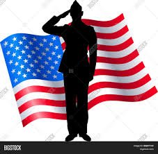 The America Flag Vector Silhouette Soldier Saluting Vector U0026 Photo Bigstock