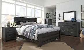 brinxton b249 king size poster bedroom set 6pcs in black