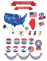 Illinois State Map by Us Presidential Election 2016 Illinois State Stock Vector Art