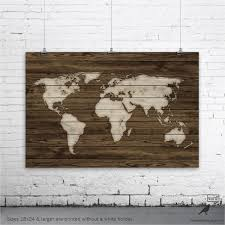 home wall decoration wood world map poster rustic map poster rustic decor rustic wall