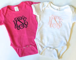monogrammable items monogram baby onesie etsy