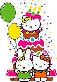 kitty 1st birthday clipart