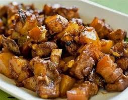 cuisine made in pork adobo recipe made in palawan philippines