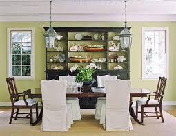 Green Dining Room Decorating Rooms With Green Palettes Traditional Home