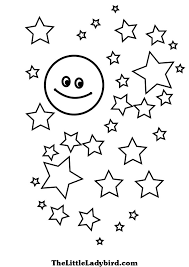 star moon coloring free download