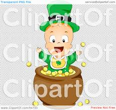 royalty free rf clipart illustration of a leprechaun baby