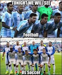 Usa Soccer Memes - argentina vs usa in the copa america semi final tonight soccer