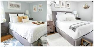 bedroom before and after small master bedroom makeover before after paint colors more