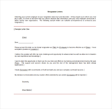 6 job resignation letter templates free pdf word format
