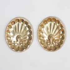 Shell Sconces Brass Shell Sconces